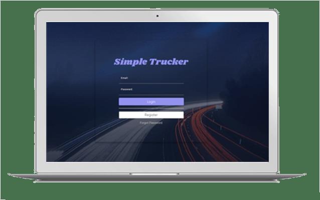 simple trucker software login screen